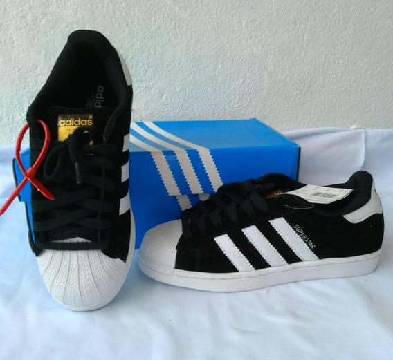 Tênis adidas Preto Camurça Superstar Unissex Envio Imediato
