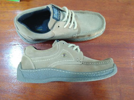 Oportunidad!!! Zapatos Ringo De Nobuck Marrón Claro!!!