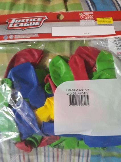 Globos Liga De La Justicia X25 Superman Batman Iroman