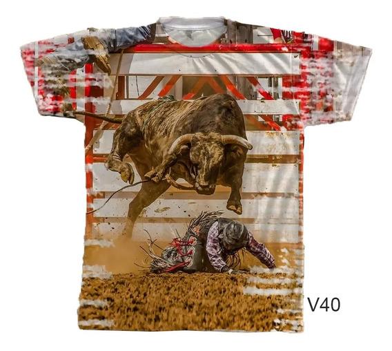 Camiseta Masculina Rodeio Cowboy No Chão Brutinho Country