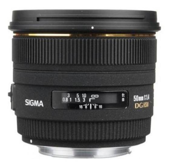 Lente Sigma Nikon 50mm 1:1.4 Ex Dg Hsm Nova Made In Japan