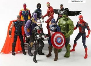 Muñecos Avengers, Hulk, Thor, Iron Man Spiderman Capitán