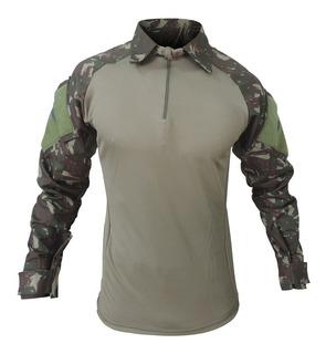 Camisa Combat T-shirt Masculina Militar Camuflada Airsoft