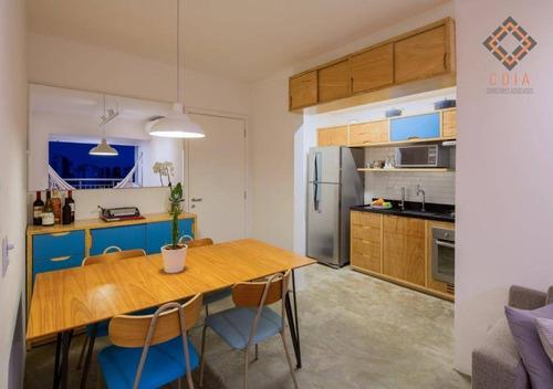Studio Com 47 M², 1 Dormitório, 1 Banheiro,  1 Vaga, Lazer, R$ 300.000,00 - St0074