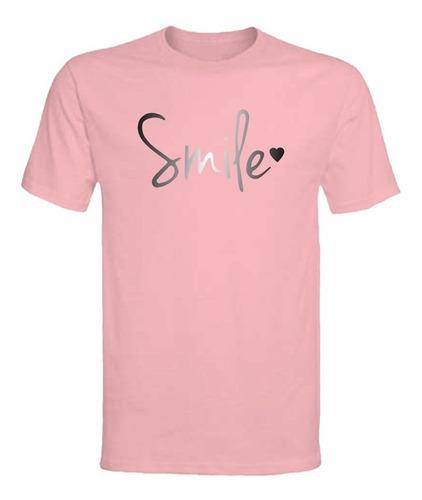Polera Smile - Polo - Niña - Vinilo Liso - Frases - Regalo