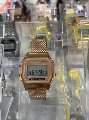 Relógio Bege Unisex (bolo-f159)