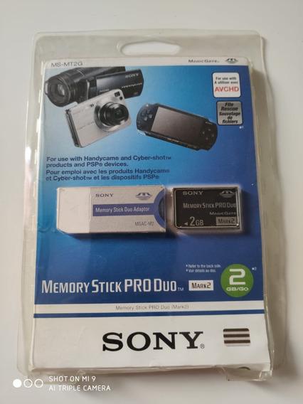 Cartão De Memória Sony Ms-mt2g Memory Stick Pro Duo Mark2 2g