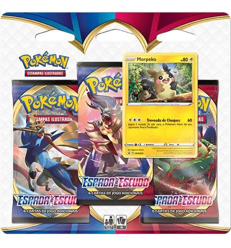 Triple Pack Cartas Pokemon Sol Lua Morpeko Espada E Escudo