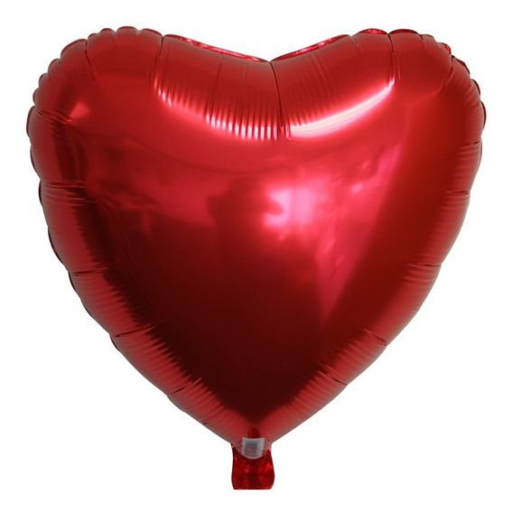 10 Globos Corazon Rojo San Valentin Amor Amistad 18 Pulgadas