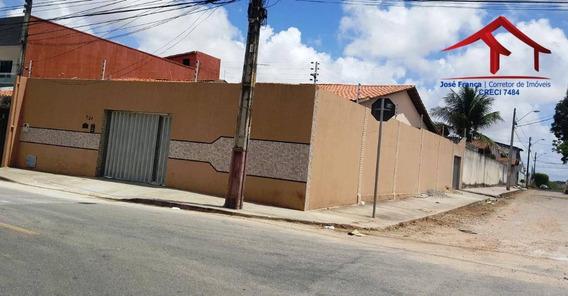 Casa Com 03 Quartos, 04 Vagas De Garagem No Bairro Maraponga - Ca0067