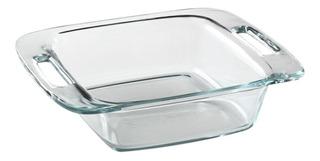 Asadera Pyrex Easygrab Fuente Molde Cuadrado Vidrio Templado Para Horno Freezer Lavavajillas Con Asas - 20 Cm 1,9 Litros