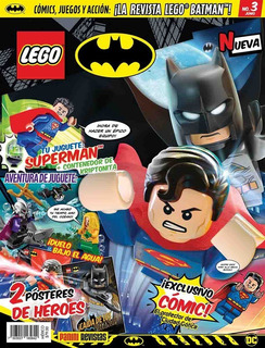Revista Lego Batman Dc # 3 Figura Super Man Nueva!