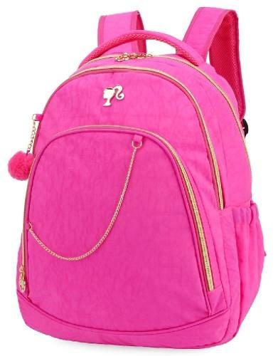 Mochila Infantil Barbie Crinkle Rosa Mj48498bb-ra