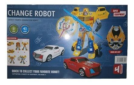 Super Robot Transformes Mascara Con Luz.