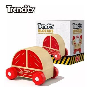 Trencity Blocars Vehiculos Modulares De Madera - Rojo