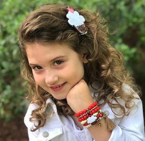 Pulseira Infantil Kit Com 10 Presilhas Atacado Frete Grátis