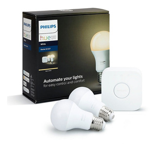 Kit De Inicio Philips Hue Luces Led Inteligente Blanco Gtia