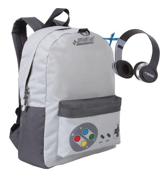 Mochila Bolsa Reforçada Nintendo Resistente Fone De Ouvido