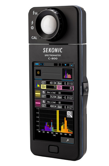 Colorímetro Espectómetro Sekonic C-800 Luxometro Cine Video