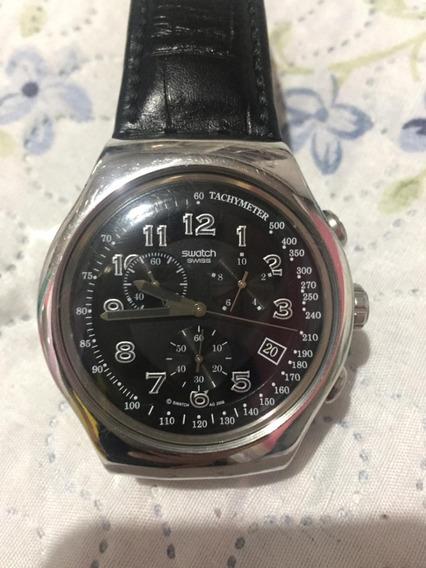 Relógio Suíço Swatch Irony V8 Taquímetro 4 Jewels Quartz