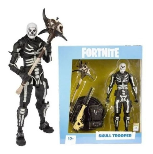 Boneco Articulado Fortnite Skull Trooper 17cm Mcfarlane Novo