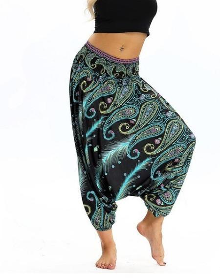 Pantalon Boho Harem De Mujer