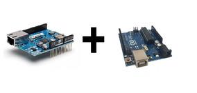 Arduino + Shield Ethernet + Protoboard
