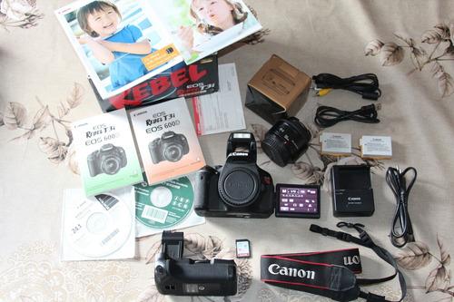Canon T3i + 50mm + Grip + 2 Baterias + Sd E Acessórios