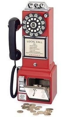 Telefono Crosley Años 50s Retro De Monedas De Pared O Mesa