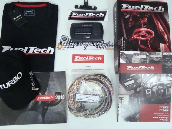 Fueltech Ft300 Com Chicote 3 Metros + Bone + Camisa Oficial