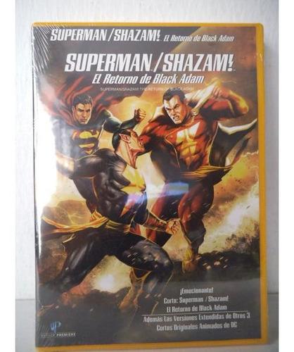 Imagen 1 de 2 de Superman Shazam El Retorno De Black Adam Dvd