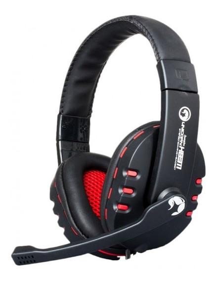Headset Gamer Marvo Scorpion Preto/vermelho