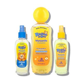 Kit Ricitosdeoro Shampoo+loción+gel Líquido Manzanilla Grisi