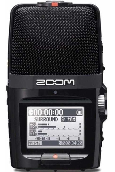 Gravador Digital Zoom H2n Usb Cartão Sd