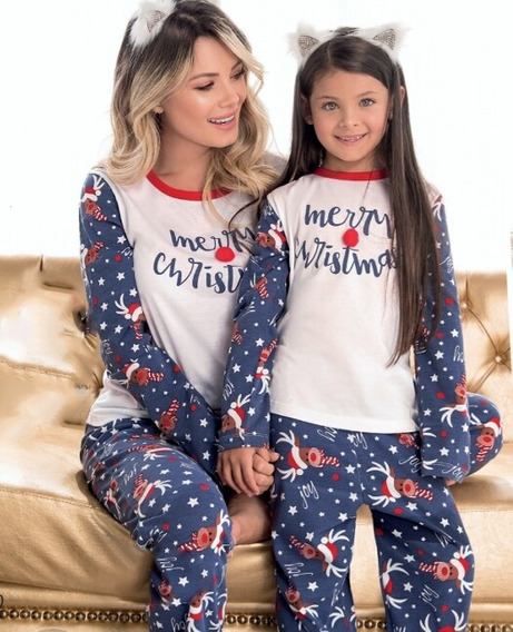 Pijama Navidad Mama Juvenil Pantalon Largo Camibuzo Merryx2u