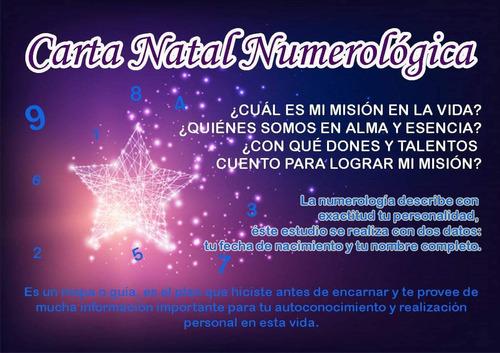 Imagen 1 de 1 de Carta Natal Numerológica