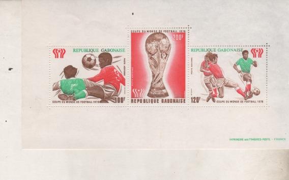 Block De Futbol Mundial 78 - Republica De Gabon - Mint