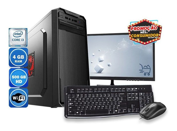 Computador Completo Core I3 4gb Hd 500gb + Wi-fi