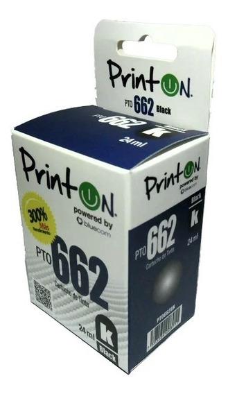 Cartucho Compatible Hp Marca Printon 662 Negro Xl
