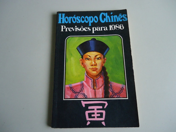 Livro Horoscopo Chines - Previsão Para 1986 - Shiwan Khan