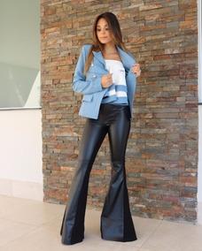 Blazer Alfaiataria Alta Costura Azul Feminino