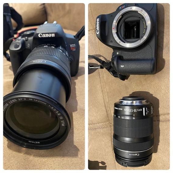 Canon T5i + Lente Cânon Efs 18-135mm + Flash 430exii + Bolsa
