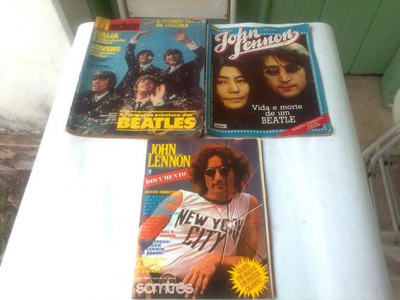 Beatles- John Lennon-manchete-somtrês-amiga+ Vinil+poster