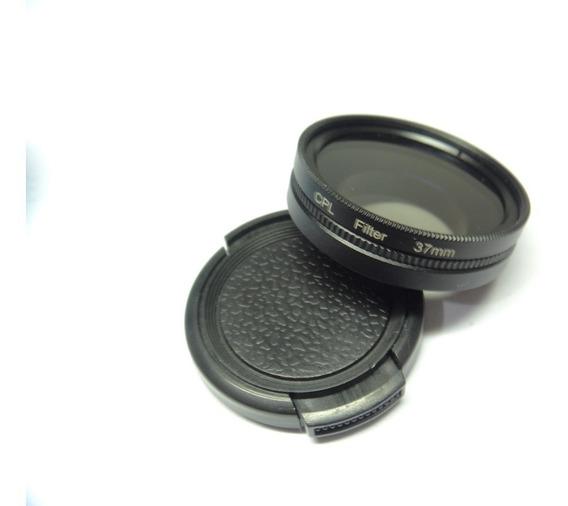 Filtro Lente Polarizador 37mm Gopro 3 E 4 Black Hero 3+ Com Case