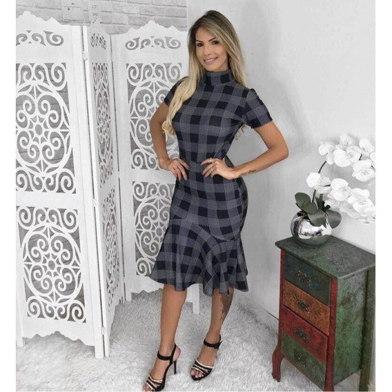 Vestido Lindo Sereia Moda Evangelica Cod##ab