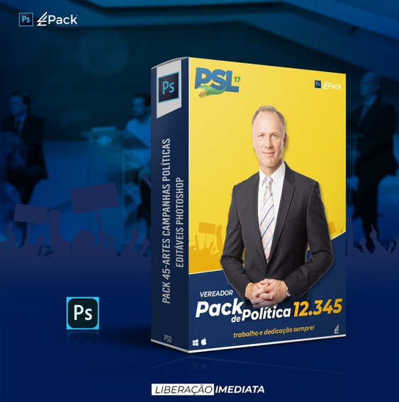 Pack 45-artes Campanhas Políticas Editáveis Photoshop