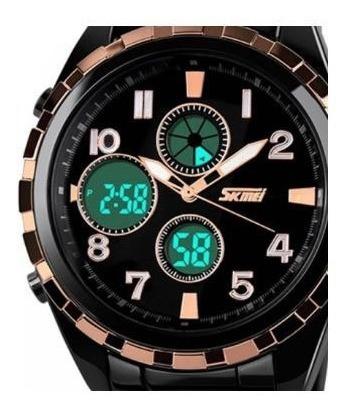 Relógio Masculino Skmei 1021 Resistente À Água Preto