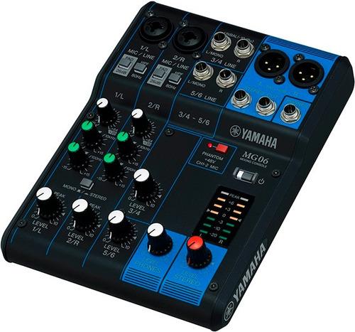 Consola Yamaha Mg06 Seis Canales Nueva Garantia Cuotas