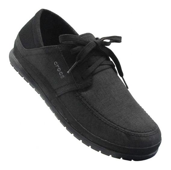 Zapatos Hombre Crocs Santa Cruz Playa Black- Black