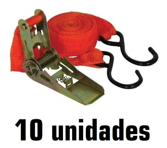 Kit 10 Catracas + Cinta/fita P Prender E Transportar Cargas